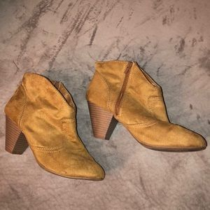 Candie's - tan ankle booties
